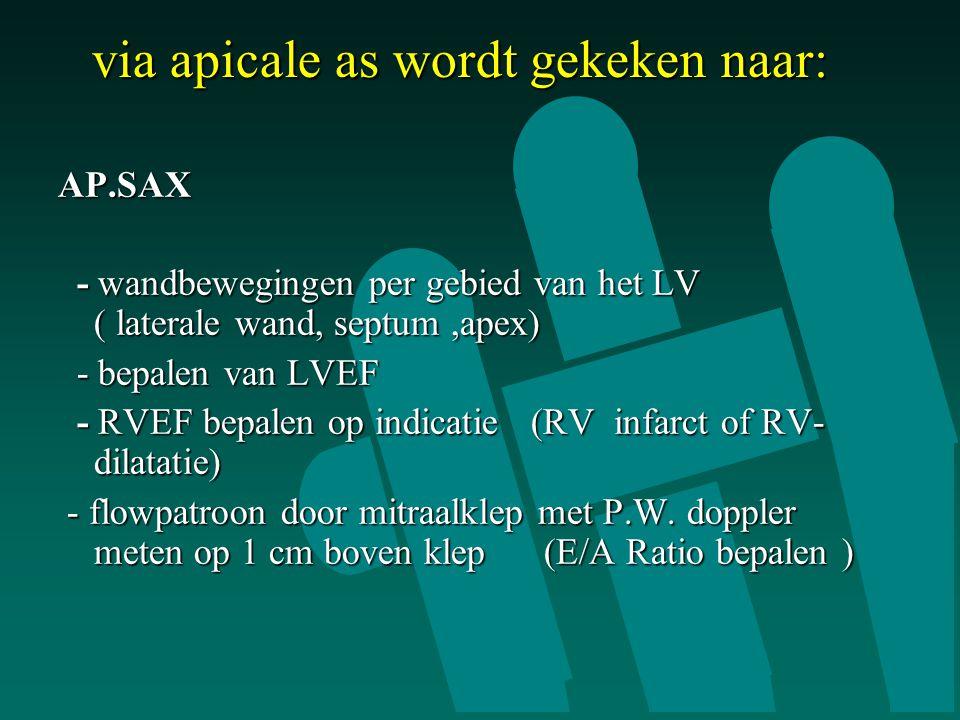 via apicale as wordt gekeken naar: