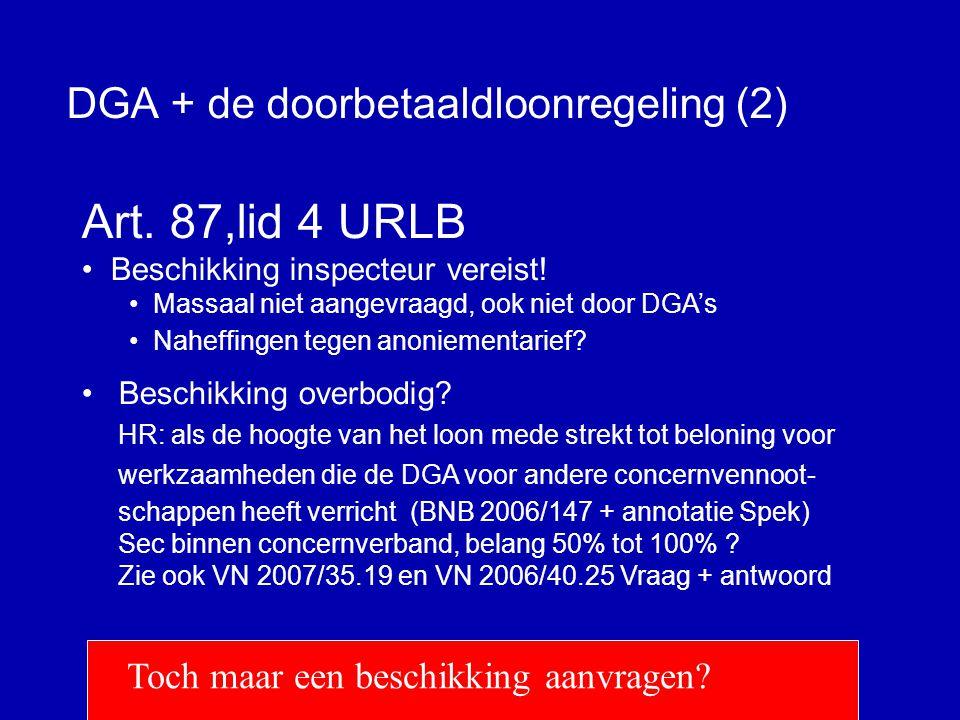 DGA + de doorbetaaldloonregeling (2)