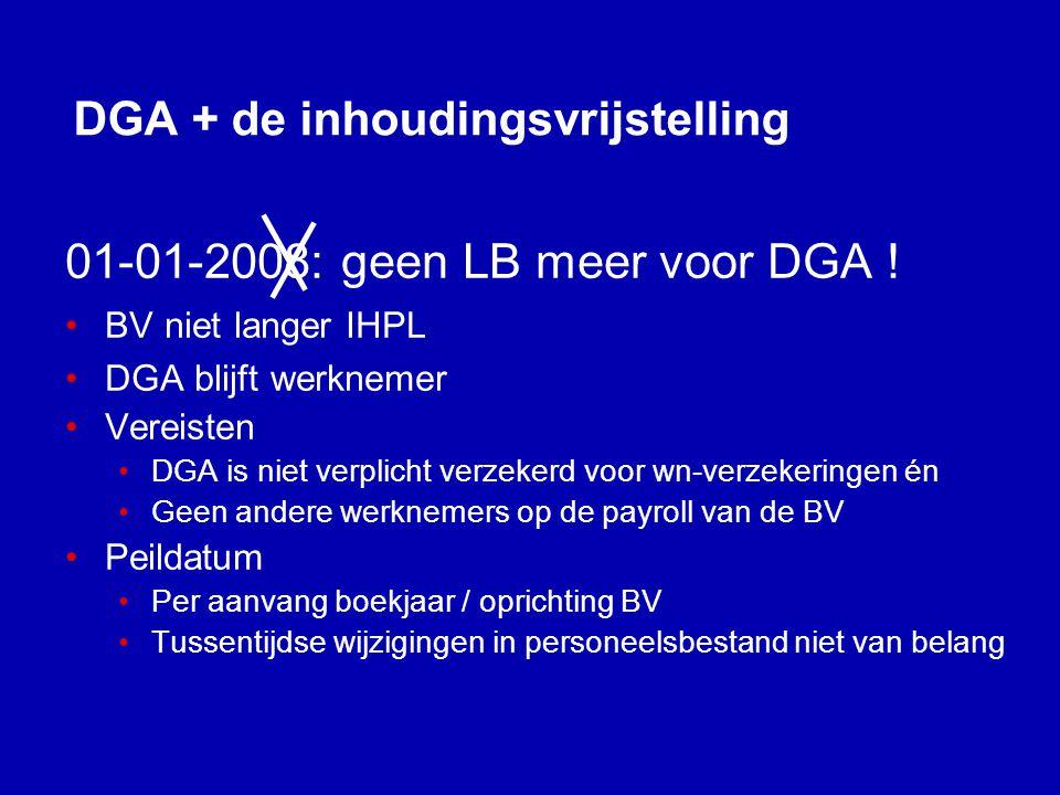 DGA + de inhoudingsvrijstelling