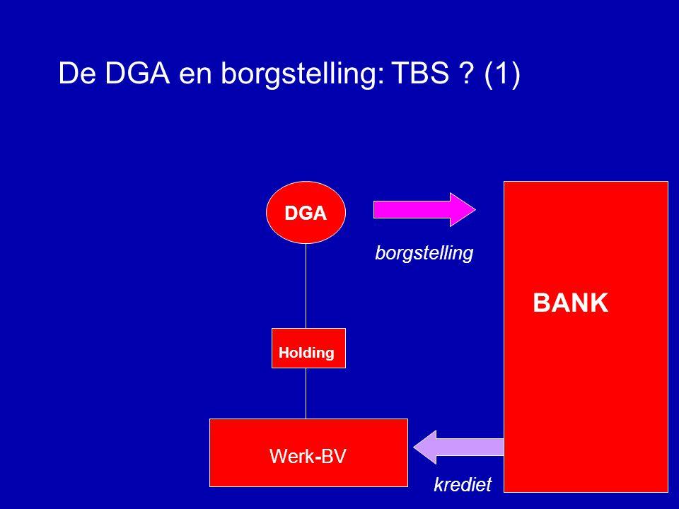 De DGA en borgstelling: TBS (1)