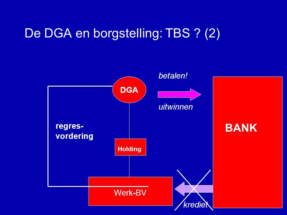 De DGA en borgstelling: TBS (2)