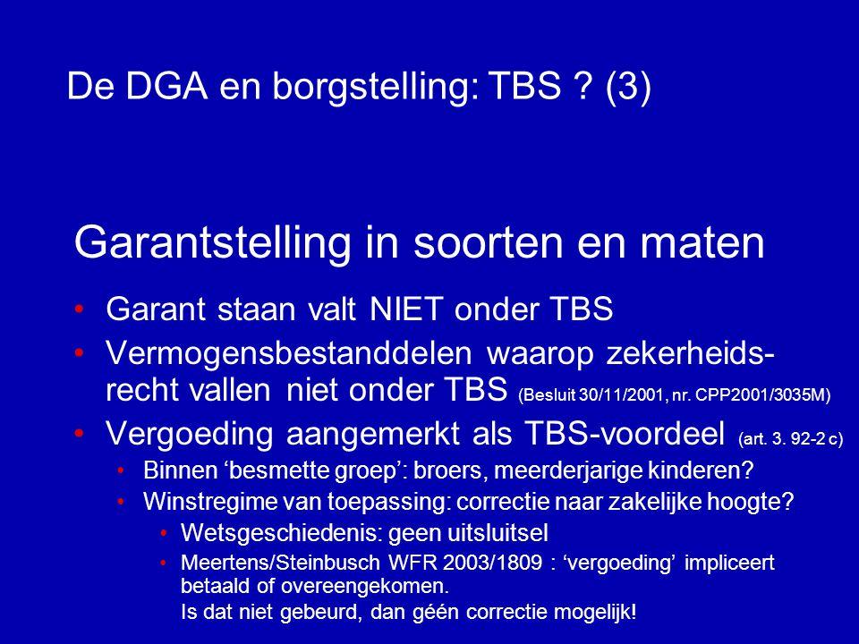 De DGA en borgstelling: TBS (3)
