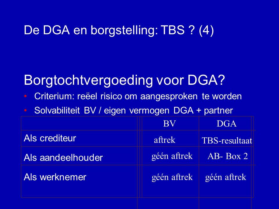De DGA en borgstelling: TBS (4)