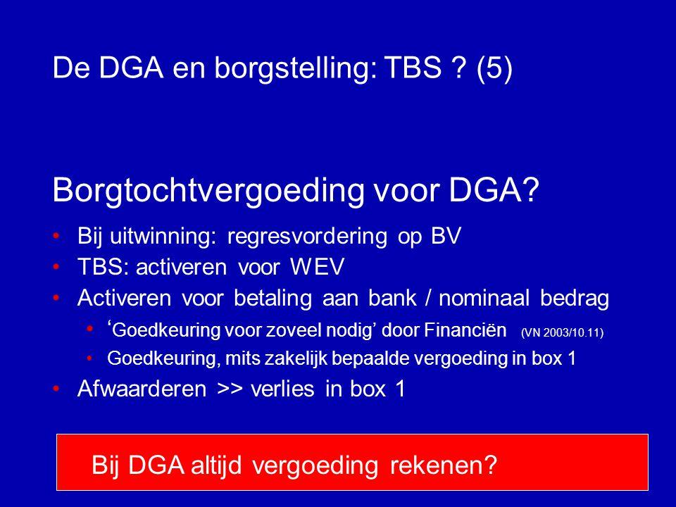 De DGA en borgstelling: TBS (5)