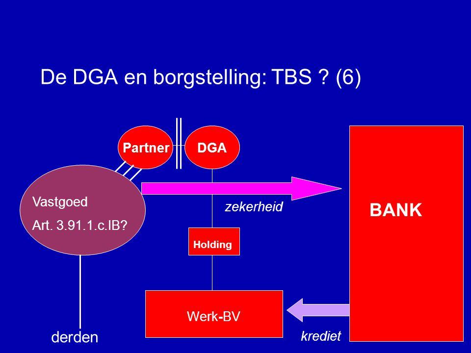 De DGA en borgstelling: TBS (6)