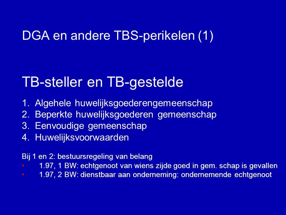 DGA en andere TBS-perikelen (1)