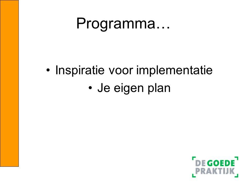 Inspiratie voor implementatie