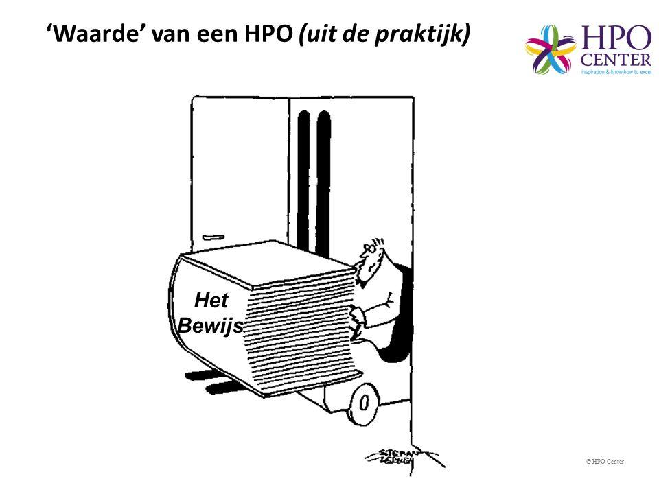 'Waarde' van een HPO (uit de praktijk)