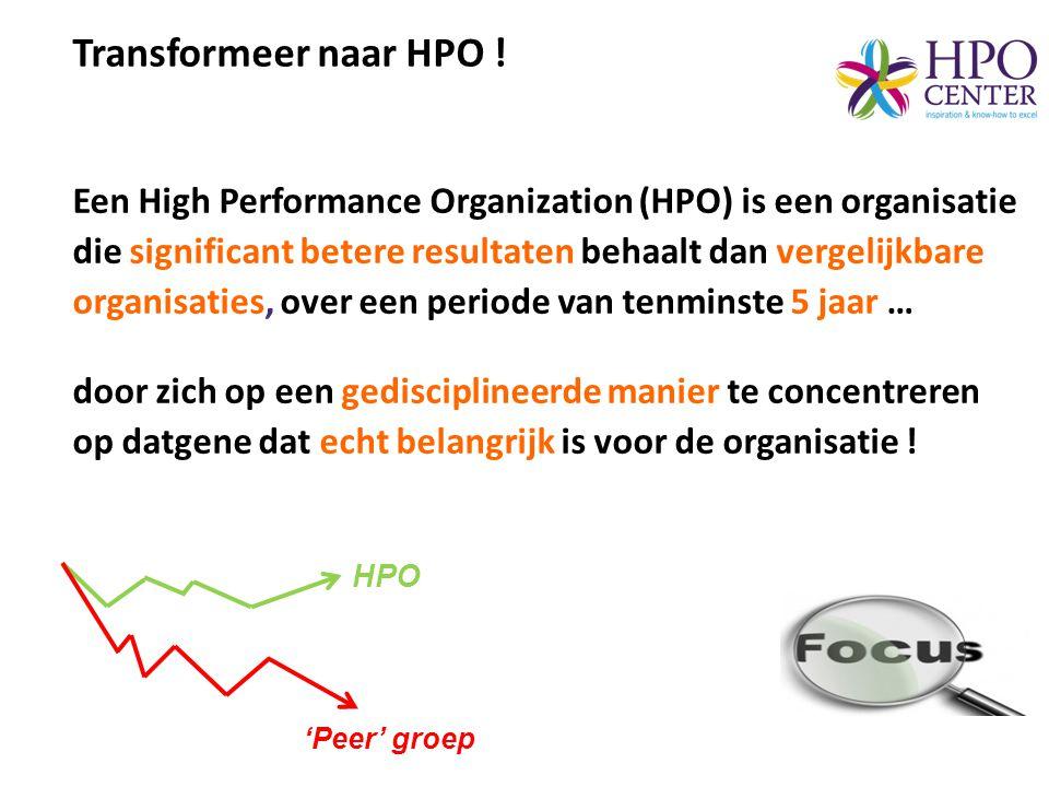 Transformeer naar HPO !