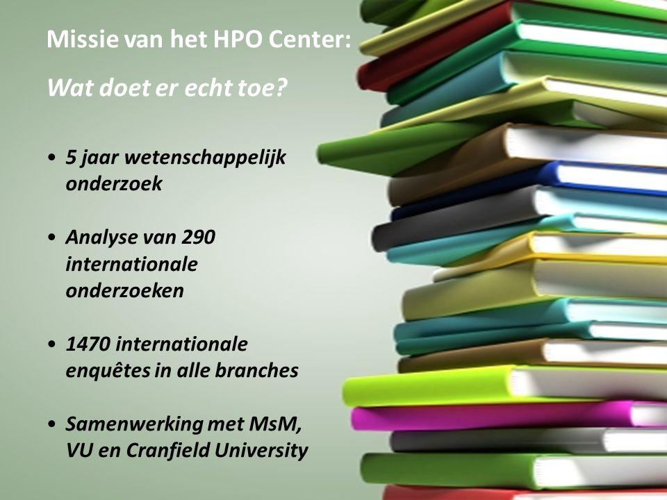 Missie van het HPO Center: Wat doet er echt toe