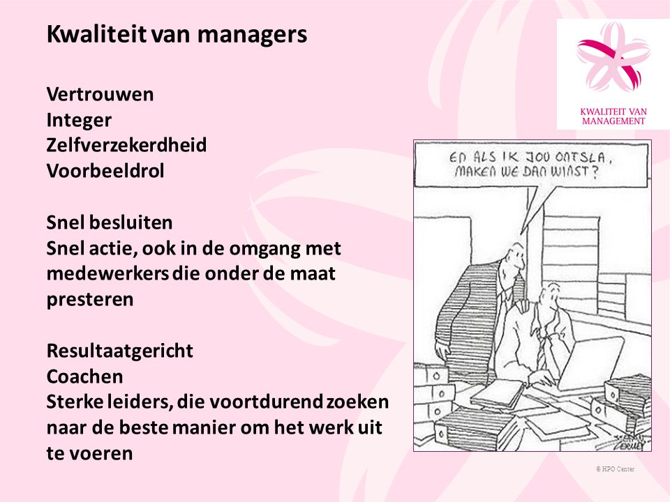 Kwaliteit van managers