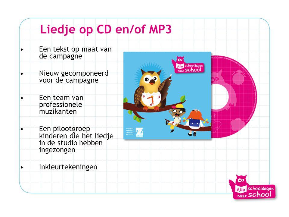 Liedje op CD en/of MP3 Een tekst op maat van de campagne