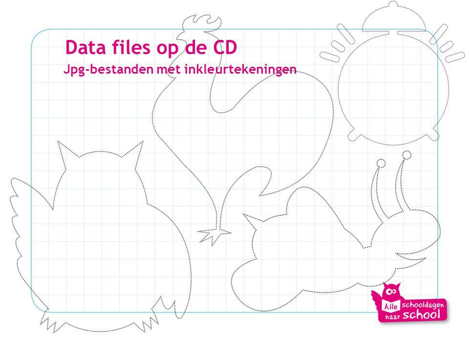 Data files op de CD Jpg-bestanden met inkleurtekeningen