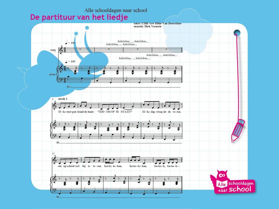 De partituur van het liedje