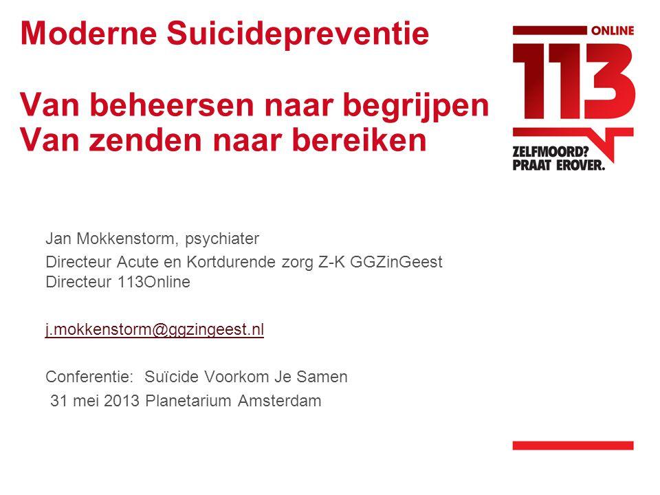 Moderne Suicidepreventie Van beheersen naar begrijpen Van zenden naar bereiken