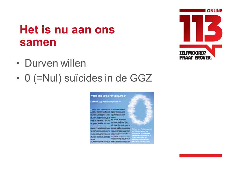 Het is nu aan ons samen Durven willen 0 (=Nul) suïcides in de GGZ
