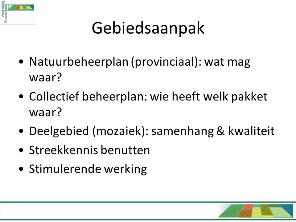 Gebiedsaanpak Natuurbeheerplan (provinciaal): wat mag waar