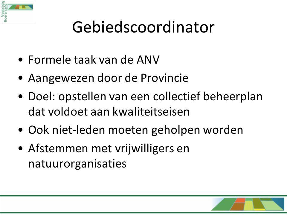 Gebiedscoordinator Formele taak van de ANV