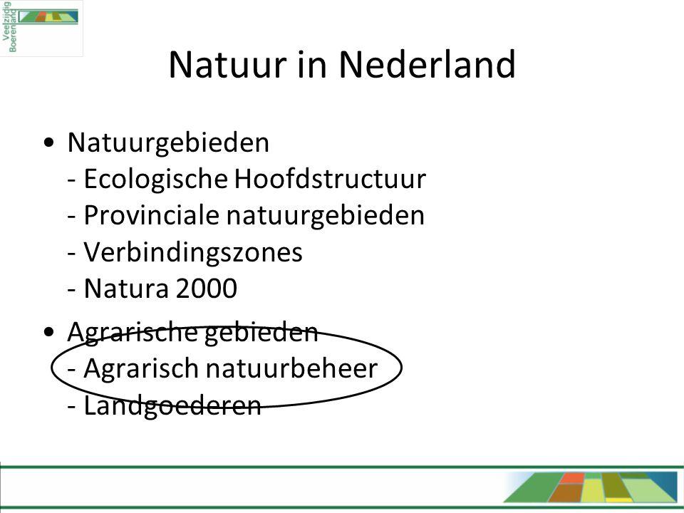 Natuur in Nederland Natuurgebieden - Ecologische Hoofdstructuur - Provinciale natuurgebieden - Verbindingszones - Natura 2000.