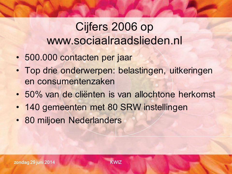 Cijfers 2006 op www.sociaalraadslieden.nl