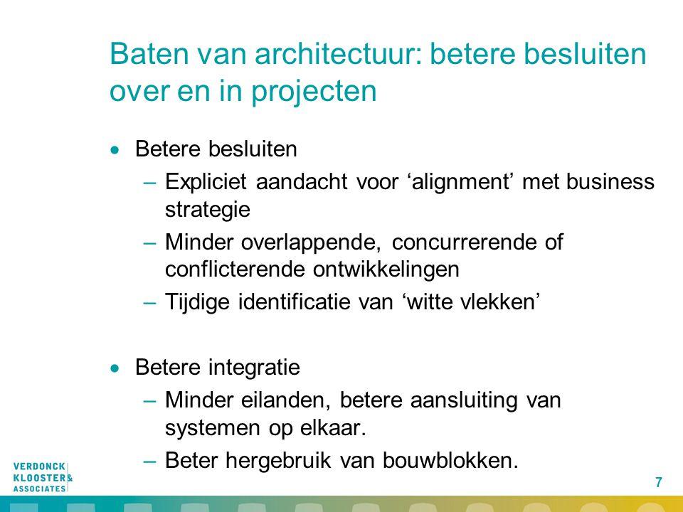 Baten van architectuur: betere besluiten over en in projecten