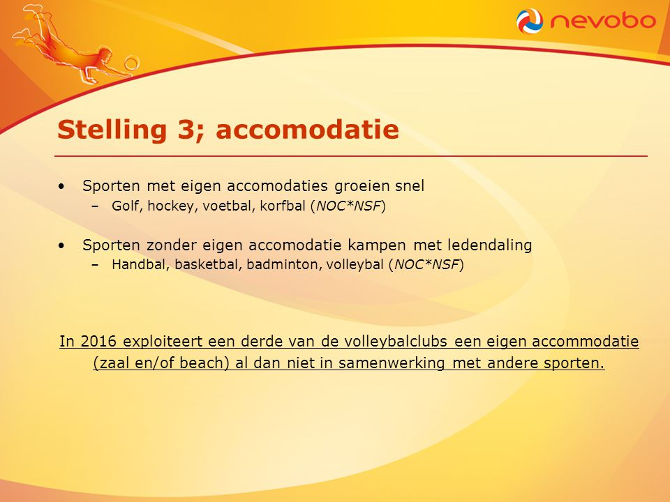 Stelling 3; accomodatie