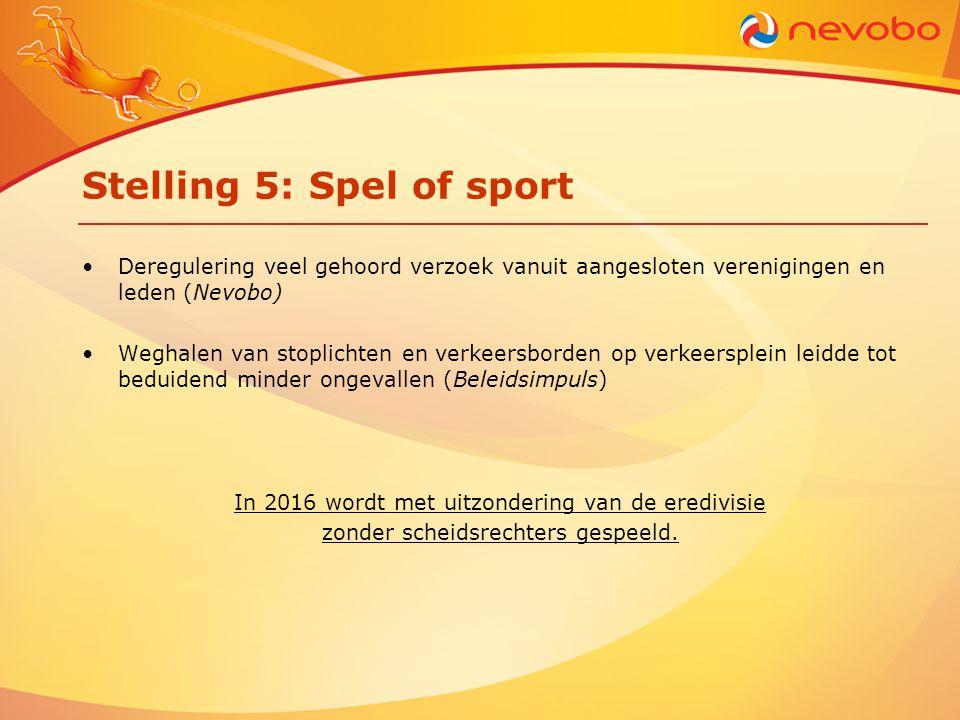 Stelling 5: Spel of sport