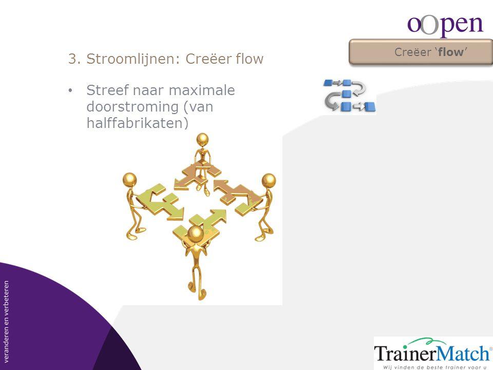 3. Stroomlijnen: Creëer flow