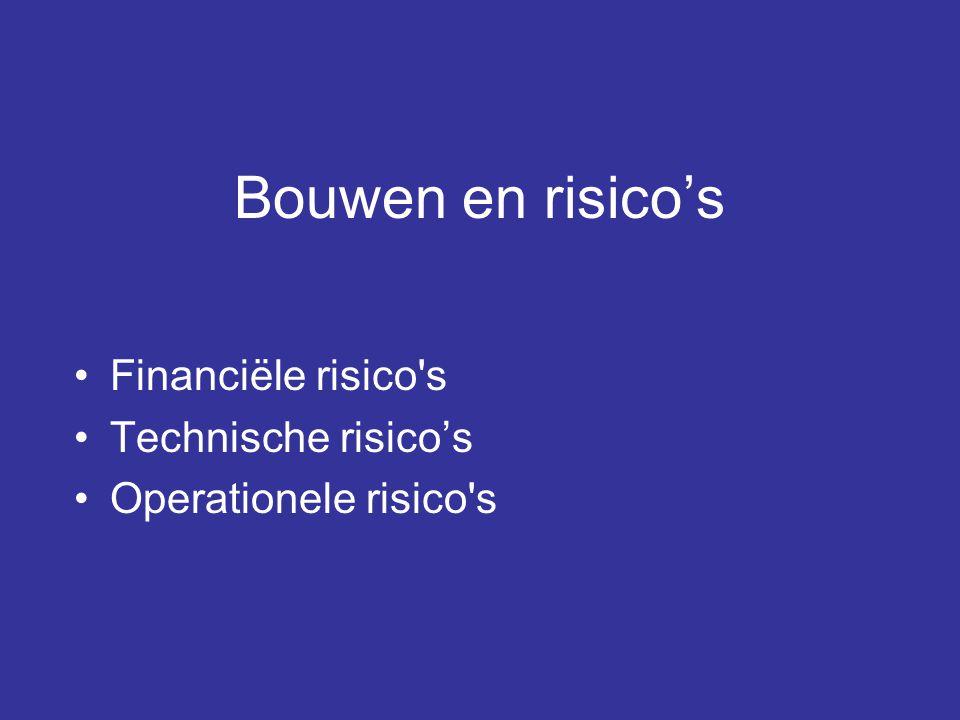 Bouwen en risico's Financiële risico s Technische risico's
