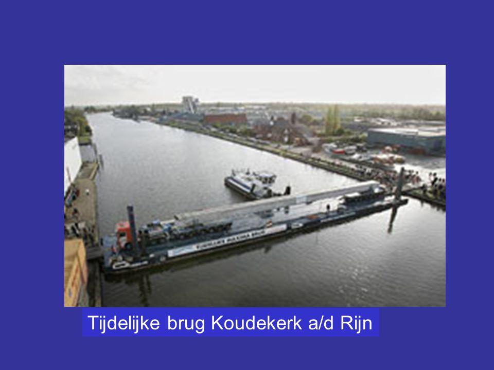 Tijdelijke brug Koudekerk a/d Rijn