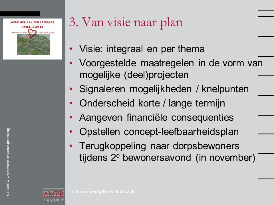 3. Van visie naar plan Visie: integraal en per thema