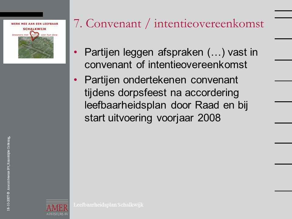 7. Convenant / intentieovereenkomst