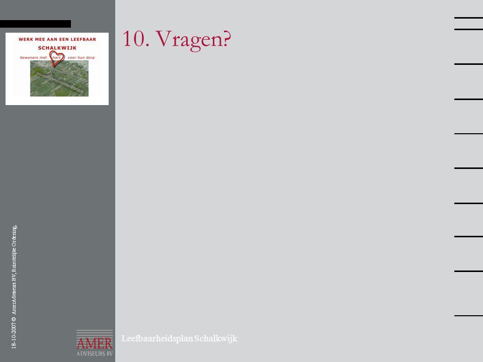 10. Vragen Leefbaarheidsplan Schalkwijk