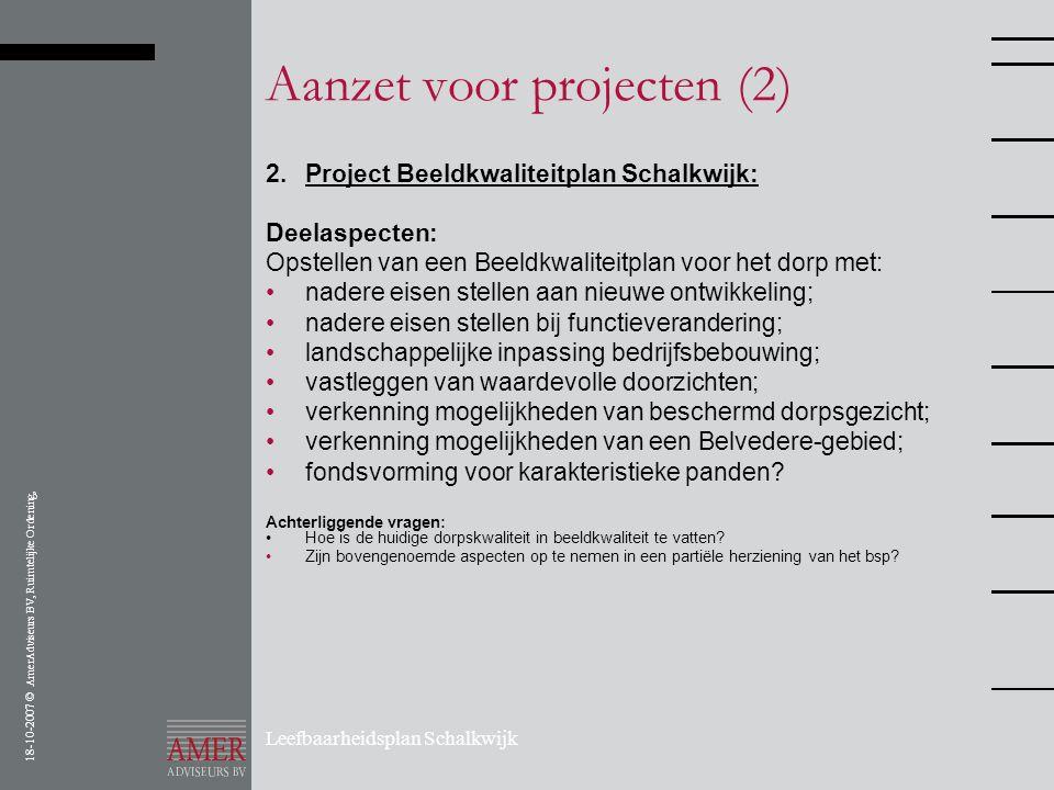 Aanzet voor projecten (2)