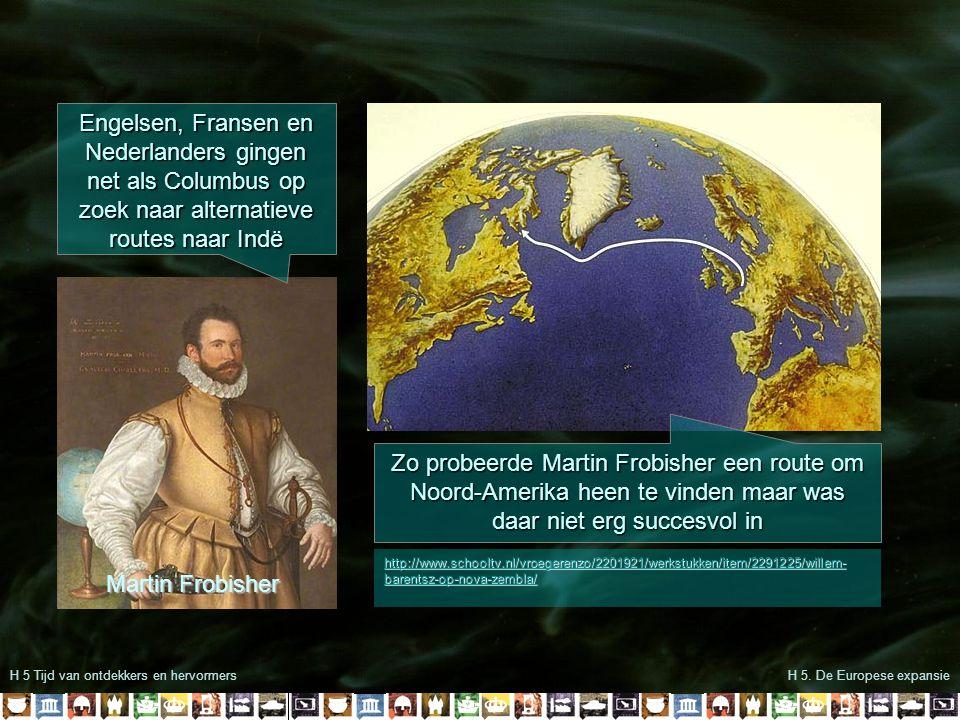 Engelsen, Fransen en Nederlanders gingen net als Columbus op zoek naar alternatieve routes naar Indë