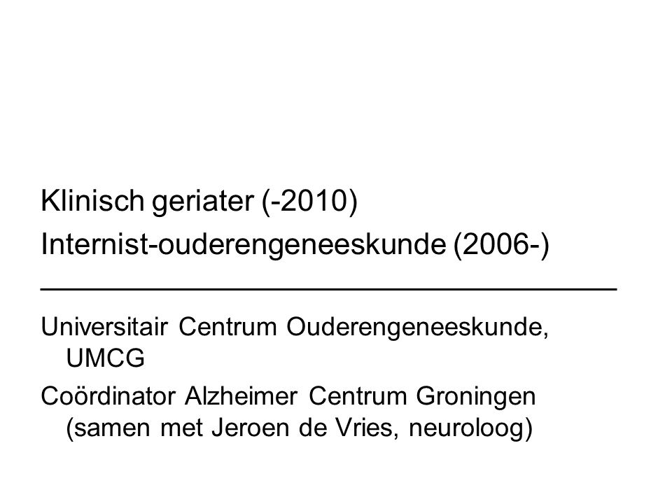 Internist-ouderengeneeskunde (2006-)