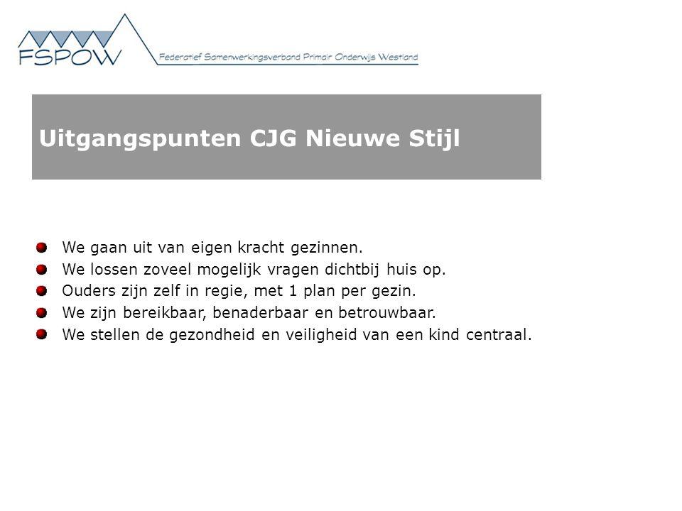 Uitgangspunten CJG Nieuwe Stijl