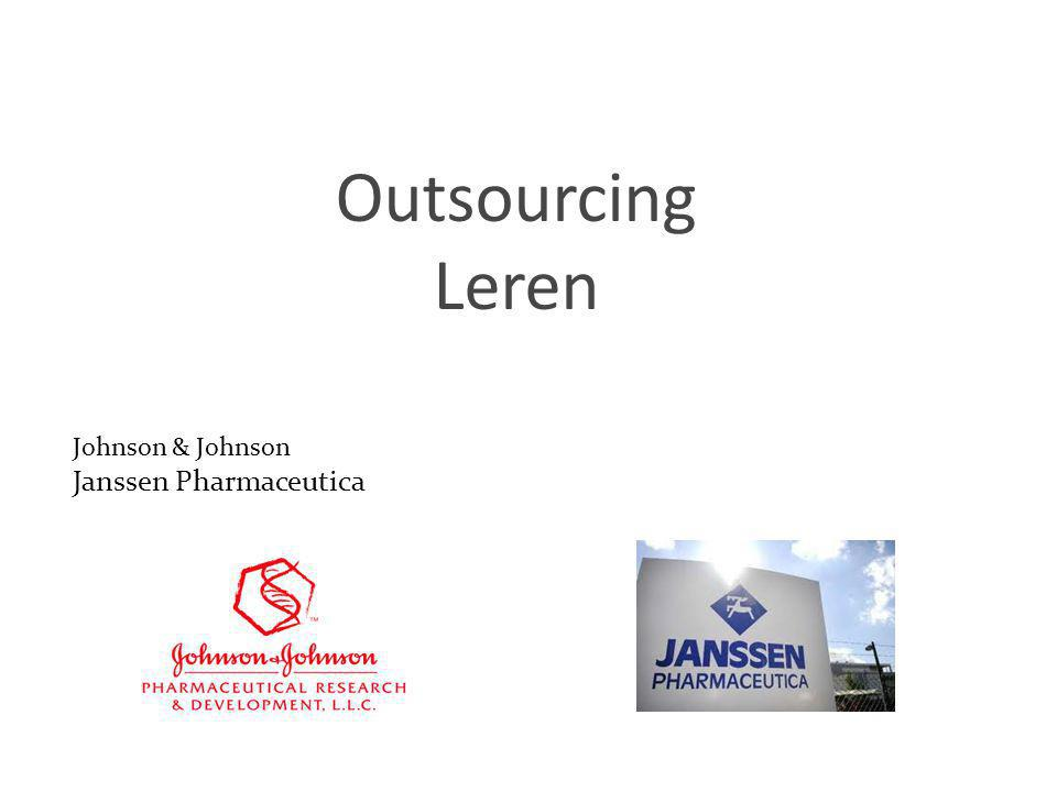 1 Outsourcing Leren Johnson & Johnson Janssen Pharmaceutica