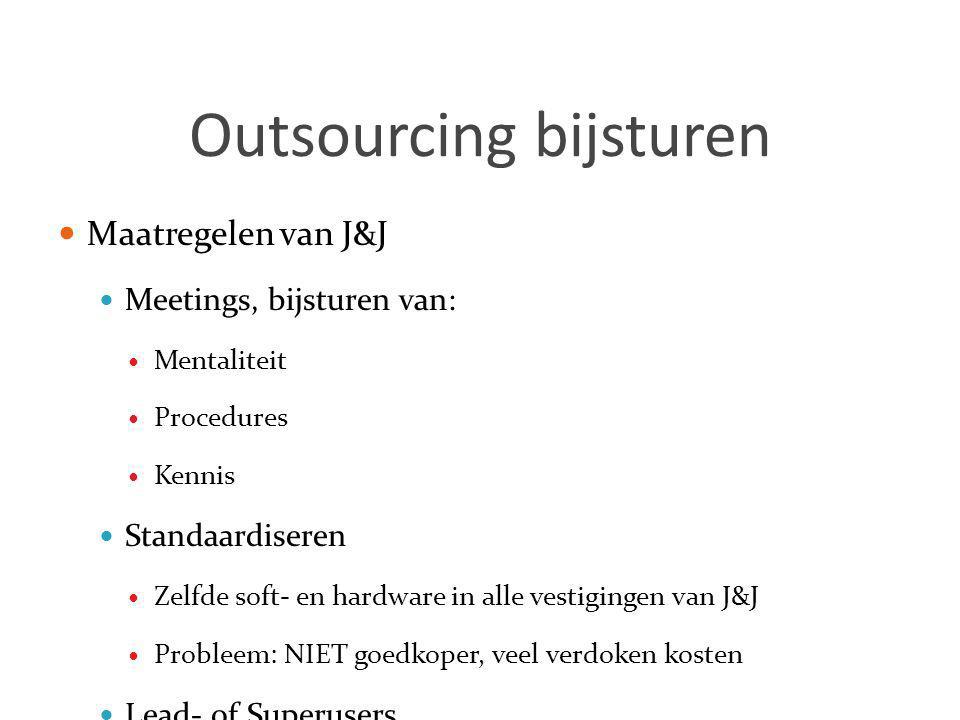 Outsourcing bijsturen