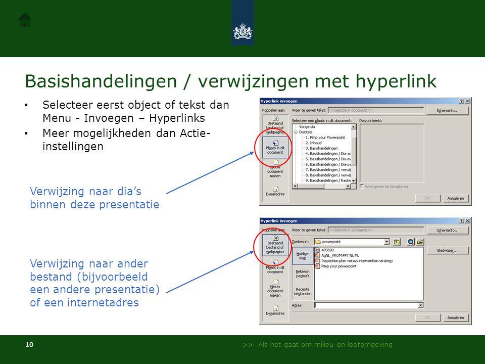 Basishandelingen / verwijzingen met hyperlink