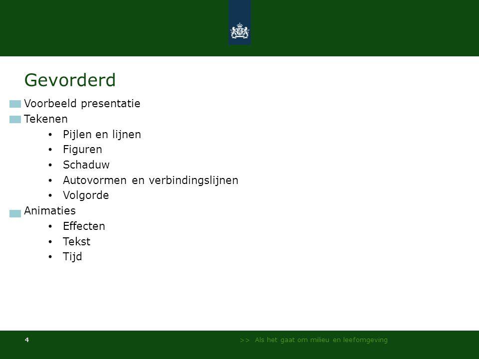 Gevorderd Voorbeeld presentatie Tekenen Pijlen en lijnen Figuren