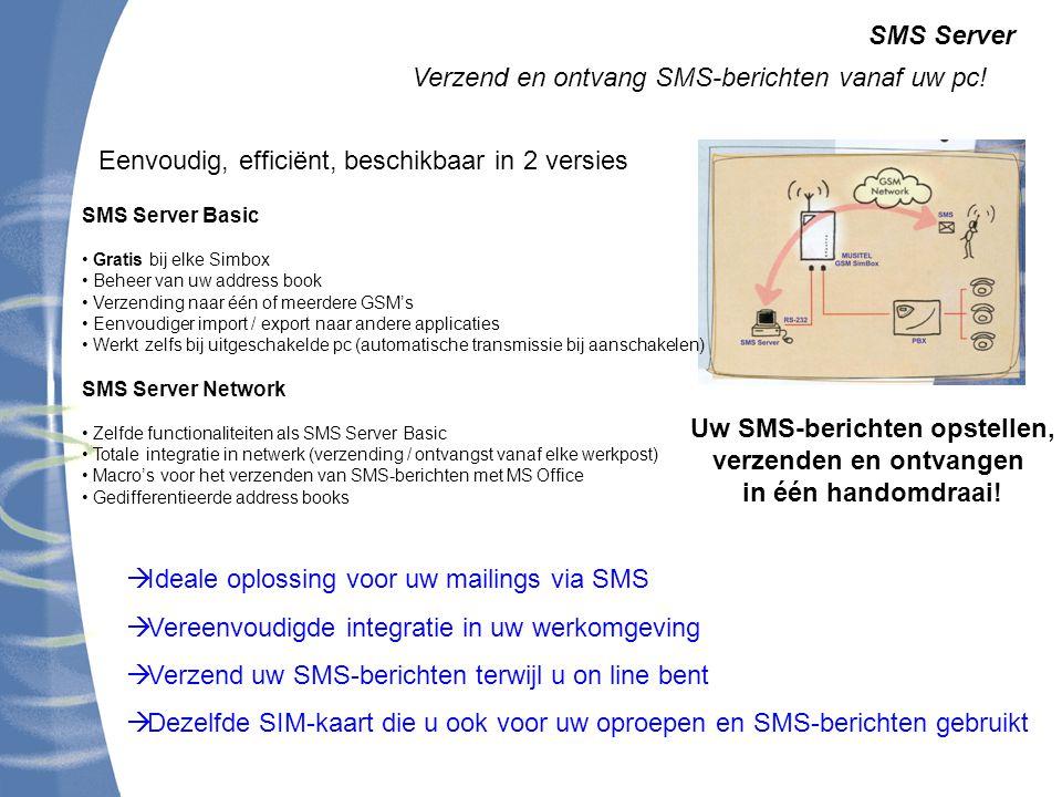 Uw SMS-berichten opstellen, verzenden en ontvangen