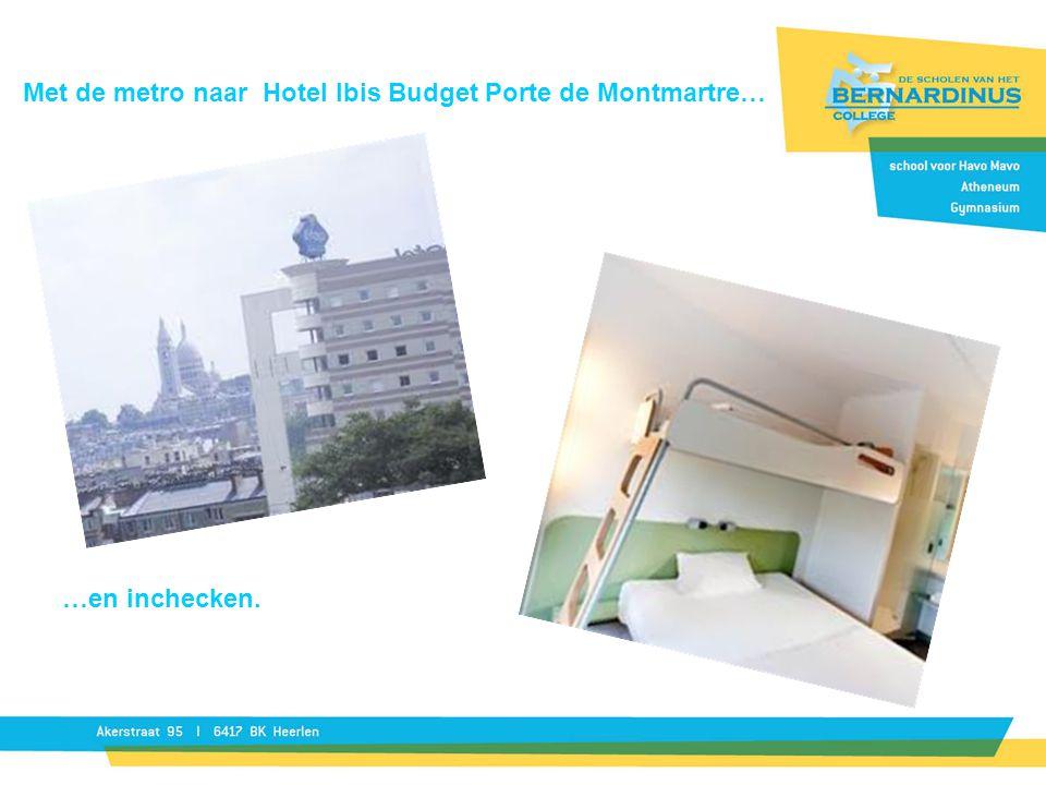Met de metro naar Hotel Ibis Budget Porte de Montmartre…