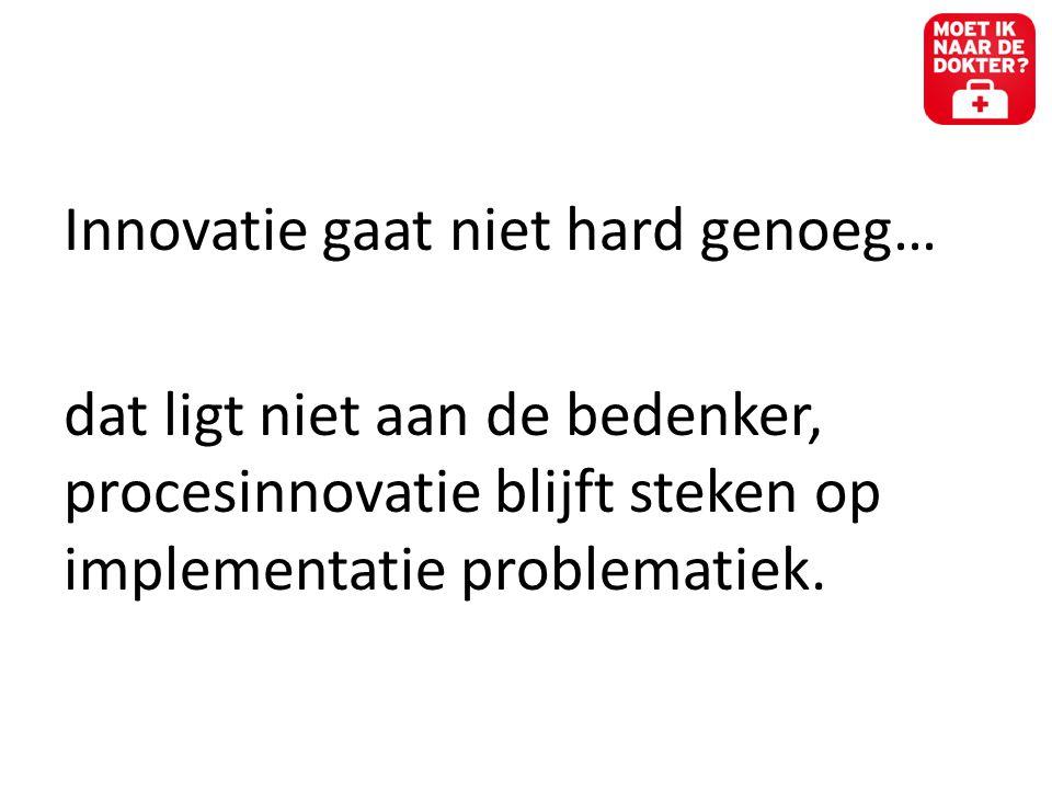 Innovatie gaat niet hard genoeg…