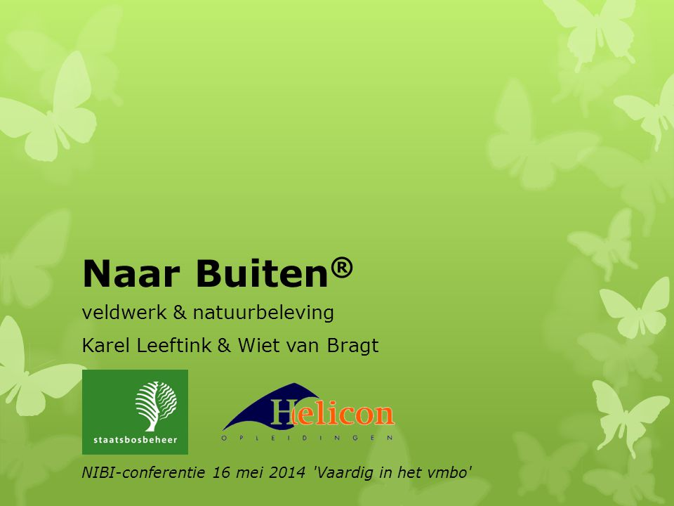 Naar Buiten® veldwerk & natuurbeleving Karel Leeftink & Wiet van Bragt