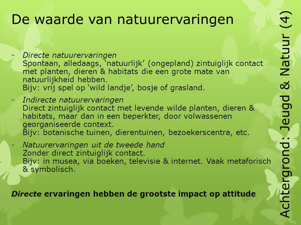 De waarde van natuurervaringen