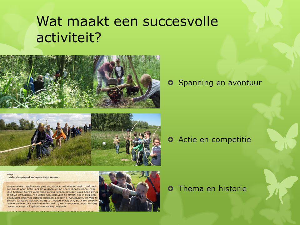 Wat maakt een succesvolle activiteit
