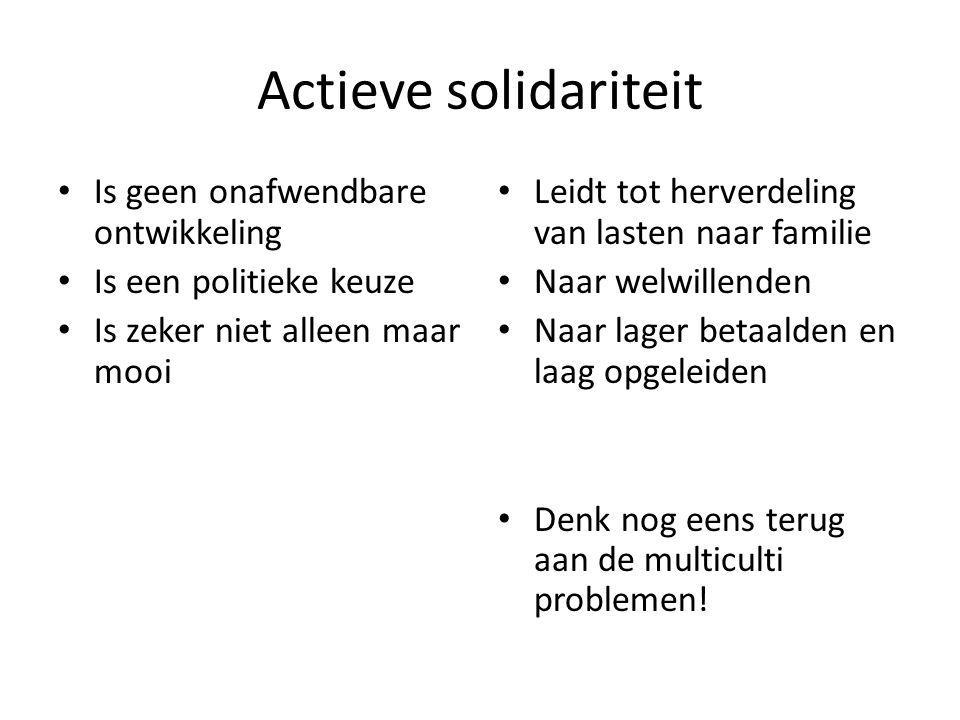 Actieve solidariteit Is geen onafwendbare ontwikkeling