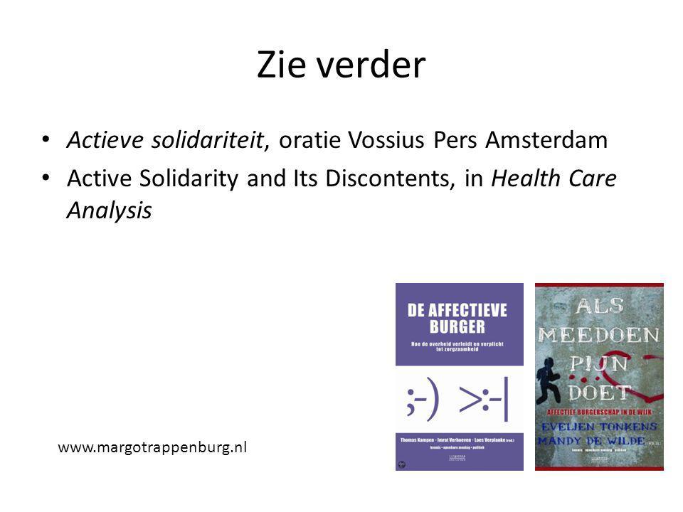 Zie verder Actieve solidariteit, oratie Vossius Pers Amsterdam