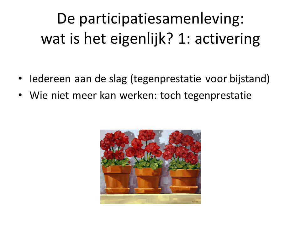 De participatiesamenleving: wat is het eigenlijk 1: activering
